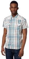 Wrangler White Western Highlighted Check Shirt
