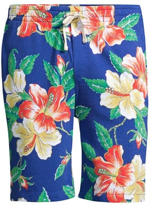 Polo Ralph Lauren Tropical-Print Spa Terry Shorts