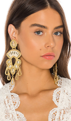 Mercedes Salazar Golden Chandelier Earrings