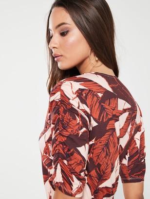 Very Jersey Midi Dress - Palm Print