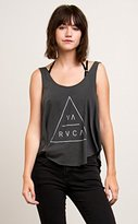 RVCA Junior's Triangular Loose Fit Graphic Tank