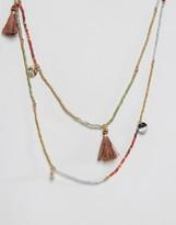 NY:LON Festival Layered Tassel Necklace