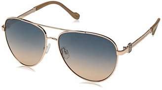 Jessica Simpson Women's J5706 Metal Aviator Sunglasses with Metal Rope Temple