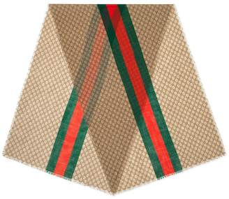 Gucci GG Web Striped Scarf