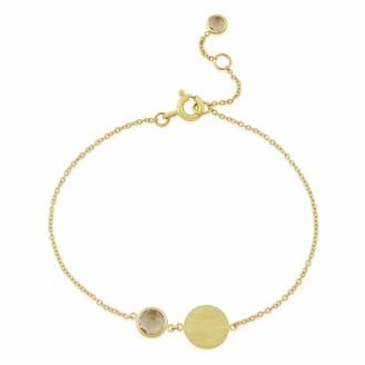 Auree Jewellery Bali 9Ct Gold October Birthstone Bracelet Rose Quartz