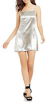 French Connection Kate Metallic Shine Slip Dress