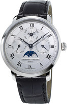 Frederique Constant FC775MC4S6 stainless steel and alligator leather watch