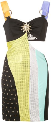 Fausto Puglisi asymmetric panelled mini dress