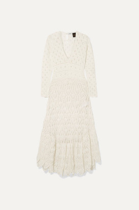Loewe + Paula's Ibiza Crocheted Cotton Maxi Dress - Ivory