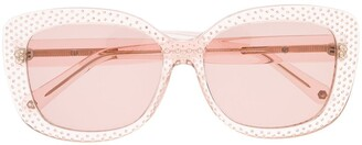 Philipp Plein Paradise dotted square sunglasses