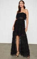 BCBGMAXAZRIA Strapless Chiffon Gown