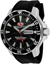 Seapro Scuba Dragon Diver Mens Black Dial Black Silicone Strap Watch