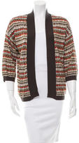 M Missoni Striped Long Sleeve Cardigan