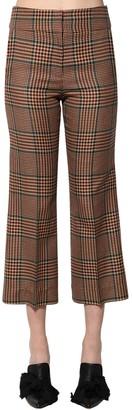 Veronica Beard Cormac Wool Blend Prince Of Wales Pants