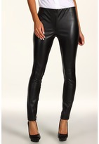 DKNYC - Legging w/ Faux Leather Front Panel