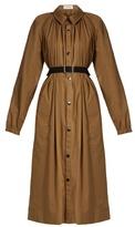 Lemaire Gathered-neck cotton-blend coat