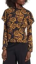 Leith Women's Floral Ruffle Top