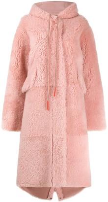 Liska Hooded Reversible Shearling Coat