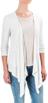 Workshop Republic Clothing Textured Cardigan Sweater - Open Front, 3/4 Sleeve (For Women)