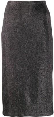 NO KA 'OI Metallized Pencil Skirt