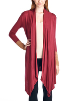 Burgundy Sidetail Open Cardigan