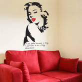 Monroe The Bright Blue Pig Marilyn Wall Sticker