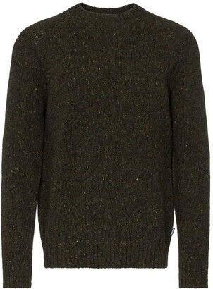 Barbour speckled knit crew-neck jumper