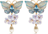 Dolce & Gabbana Hydrangea and butterfly clip-on drop earrings