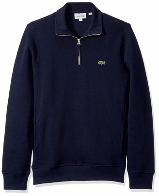 Lacoste Mens Interlock Solid Classic Sweatshirt Sweatshirt