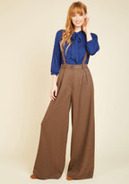 Collectif Clothing Conference Room Coffee Pants in Brown