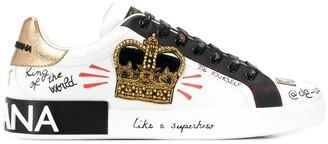 Dolce & Gabbana Portofino printed sneakers