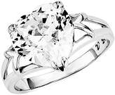 Amor Women's Ring 925 Sterling Silver Rhodium-Plated Zirconia White 56 (17.8) silver