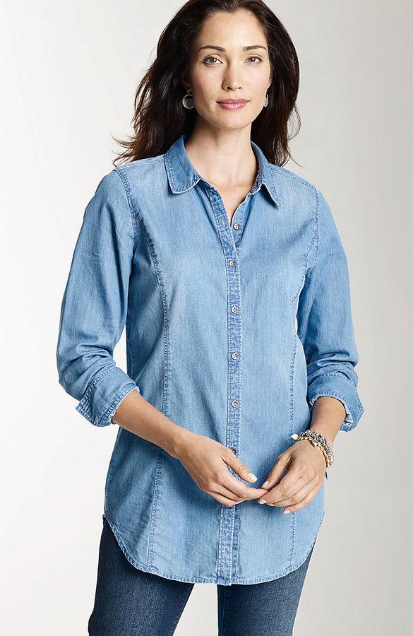 J. Jill Washed denim shirt