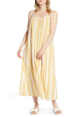 Lou & Grey Dobby Stripe Strappy Maxi Dress
