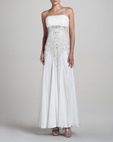 Sue Wong Strapless Gown with Ruched Bodice
