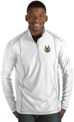 Antigua Men's Milwaukee Bucks Tempo Quarter-Zip Pullover