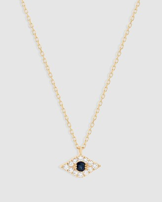 By Charlotte 14k Gold Evil Eye Necklace