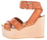 Celine Leather Wedge Sandals