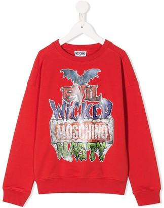 MOSCHINO BAMBINO Evil Wicked sweatshirt
