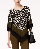 Alfani Printed Angled-Hem Top Available in Regular and Petite Sizes, Created for Macy's