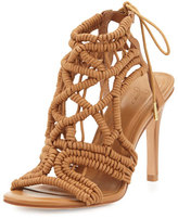 Joie Aria Woven Strappy Sandal, Cuoio