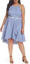 Eliza J Plus Size Women's Stripe High/low Dress