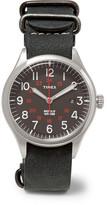 Timex Waterbury United Stainless Steel And Nubuck Watch
