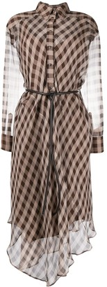 Brunello Cucinelli Sheer Checked Dress