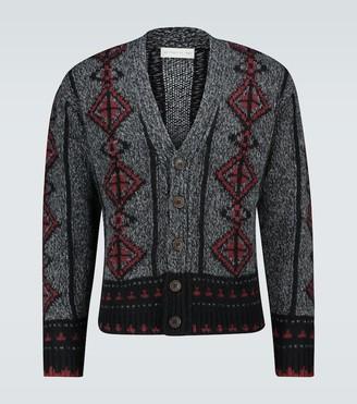 Etro Wool intarsia knitted cardigan