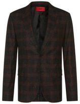 Hugo Boss Arelto Regular Fit, Wool Silk Donegal Sport Coat 38R Orange