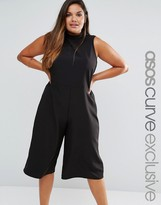 Asos Jumpsuit with Culotte Leg and High Neck