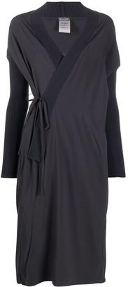 Kristensen Du Nord Ribbed-Knit Edge Wrap Dress