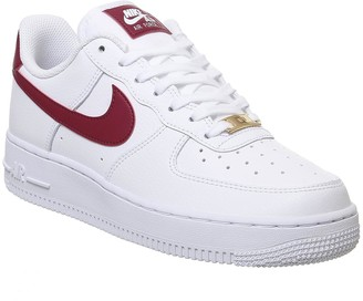 Nike Force 1 07 Trainers White Noble Red F