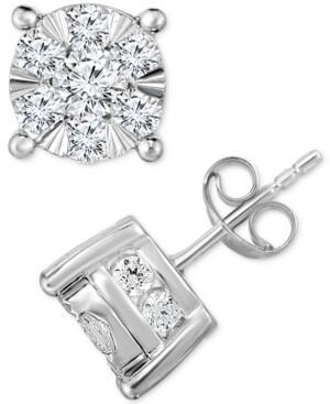 TruMiracle Diamond Stud Earrings (2 ct. t.w.) in 14K White Gold